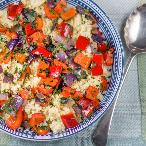 World Cancer Research Fund's bulgur wheat and vegetables recipe