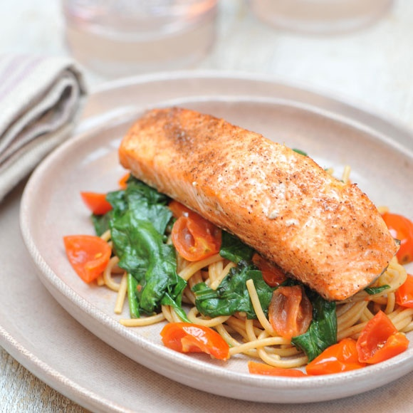 Spice up your pasta with our cajun-style salmon recipe