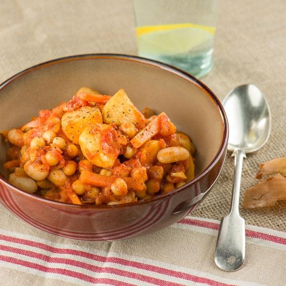 Chickpea and bean casserole recipe