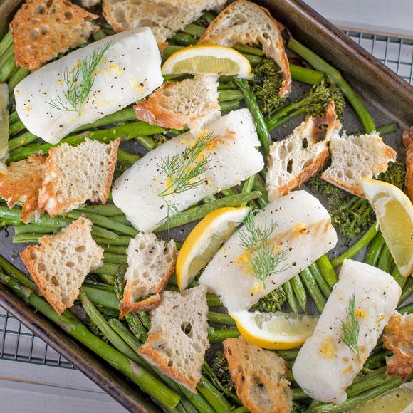 Make citrus fish with roasted vegetables in only 20 minutes