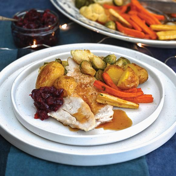 Crowned Turkey Roast With All The Trimmings World Cancer Research Fund Uk