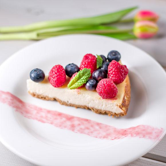 Try World Cancer Research Fund's healthy lemon cheesecake recipe