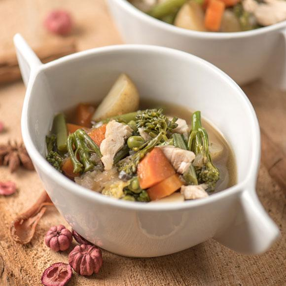 Our easy soup recipe can be made using up yesterday's leftovers