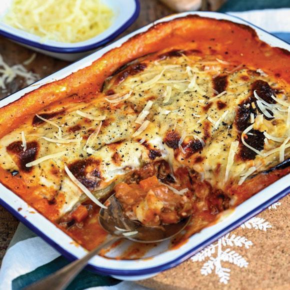 Lasagna with aubergine instead of pasta