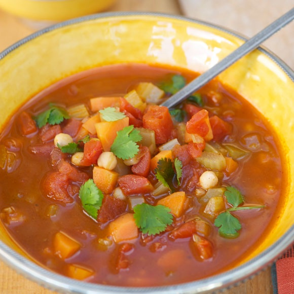 A great chickpea soup for rainy days