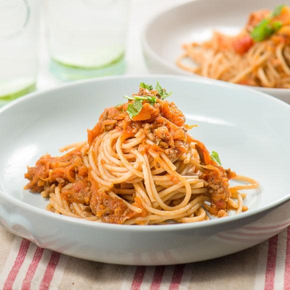 Spaghetti bolognese with butternut squash recipe
