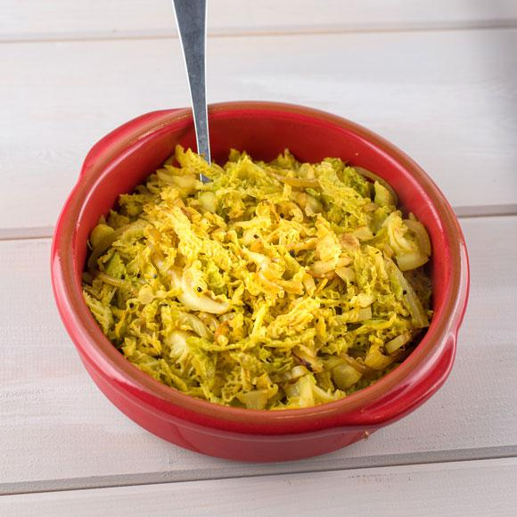 Stuck for cabbage recipe ideas? Try our spiced savoy cabbage side dish